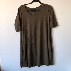Reformation olive green T-shirt dress